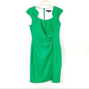 Ellen Tracy Green Cap Sleeve Dress Size 6